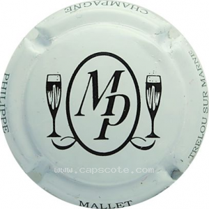 capsule champagne Mallet Philippe Initiales MP