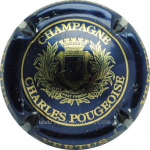 capsule champagne Pougeoise Charles Ecusson, petites lettres
